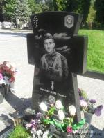 Могила каітана Савченко Максима на Алеї Почесних громадян Центрального кладовища міста Суми.